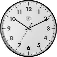 NeXtime NX-7317 Wandklok NXT Diameter 40cm Kunststof Zwart, Witte Wijzerplaat