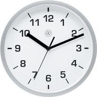NeXtime NX-7321ZI Wandklok NXT Diameter 20cm Kunststof Zilver, Witte Wijzerplaat