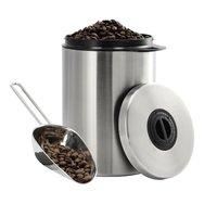 Xavax RVS-blik Voor 1 Kg Koffiebonen Met Schepje