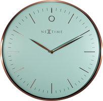 NeXtime NE-3235TQ Wandklok Glamour Ø40 Metaal Turquoise / Rose Goud
