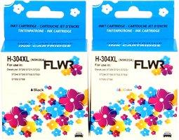 FLWR HP 304XL Multipack zwart en kleur (Remanufactured)