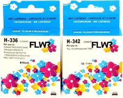 FLWR HP 336 en 342 Multipack zwart en kleur (Remanufactured)