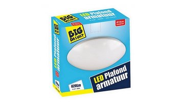 Big Bright LED Plafond/Wandlamp 8W 3000K 18CM