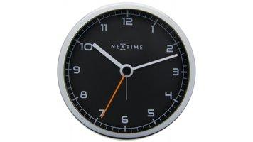 NeXtime NE-5194ZW Wekker 9 X 9 X 7.5 Cm, Metaal, Zwart, 'Company Alarm'