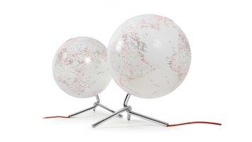 Atmosphere NR-0331NONO-GB Globe Nodo 30cm Diameter Met Verlichting Wit / Rood
