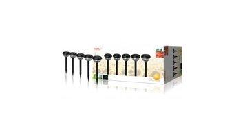 Ranex Ra-5000259 Led Solar Tuinlamp Op Spies 5-pack Zwart Kunststof