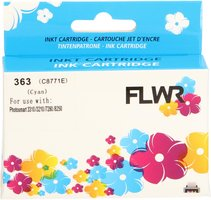 FLWR HP 363 cyaan (Huismerk (compatible))