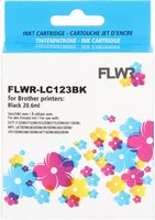 FLWR Brother LC-123 zwart (Huismerk (compatible))
