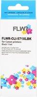 FLWR Canon CLI-571 XL zwart (Huismerk (compatible))