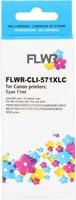 FLWR Canon CLI-571 XL cyaan (Huismerk (compatible))