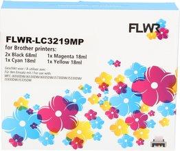 FLWR Brother LC-3219XL Multipack zwart en kleur (Huismerk (compatible))