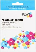 FLWR Brother LC-1100BK zwart (Huismerk (compatible))
