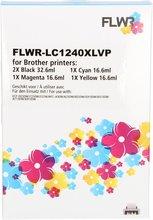 FLWR Brother LC-1240XL Multipack zwart en kleur (Huismerk (compatible))