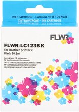 FLWR Brother LC-123 zwart (Huismerk (compatible))