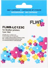 FLWR Brother LC-123 cyaan (Huismerk (compatible))