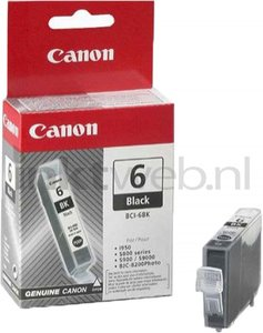 Canon BCI-6BK zwart (Origineel)