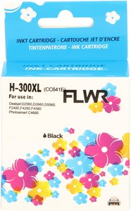 FLWR HP 300XL zwart (Huismerk (remanufactured))