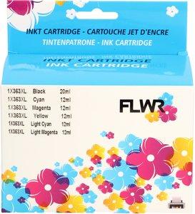 FLWR HP 363 6-pack Multipack zwart en kleur (Huismerk (compatible))