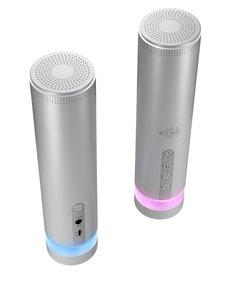 Icy Box IB-SP202-BT Bluetooth-speaker 8 W Ingebouwde Microfoon Aluminium