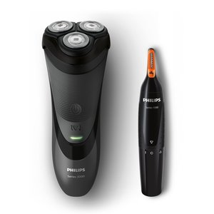 Philips S3110/41 Seriee 3000 Easy Shave Scheerapparaat + Neustrimmer Zwart