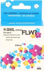 FLWR HP 304XL zwart (Remanufactured)