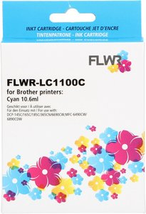 FLWR Brother LC-1100C cyaan (Huismerk (compatible))