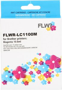 FLWR Brother LC-1100M magenta (Huismerk (compatible))