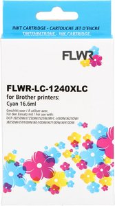 FLWR Brother LC-1240XL cyaan (Huismerk (compatible))