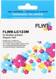 FLWR Brother LC-123 magenta (Huismerk (compatible))
