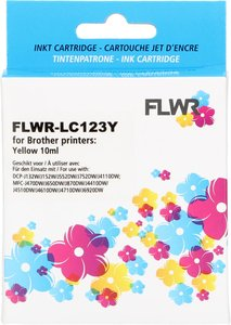 FLWR Brother LC-123 geel (Huismerk (compatible))
